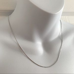 """2/$25 - 16"""" Silver Chain Necklace marked D'Orian"""